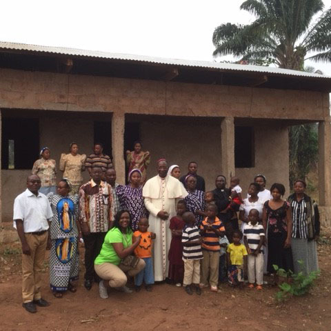 Catholic Bishop ministering to the orphans of DR Congo