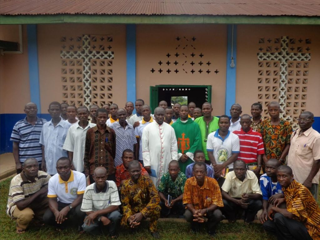 Msgr. Simon and Catechists