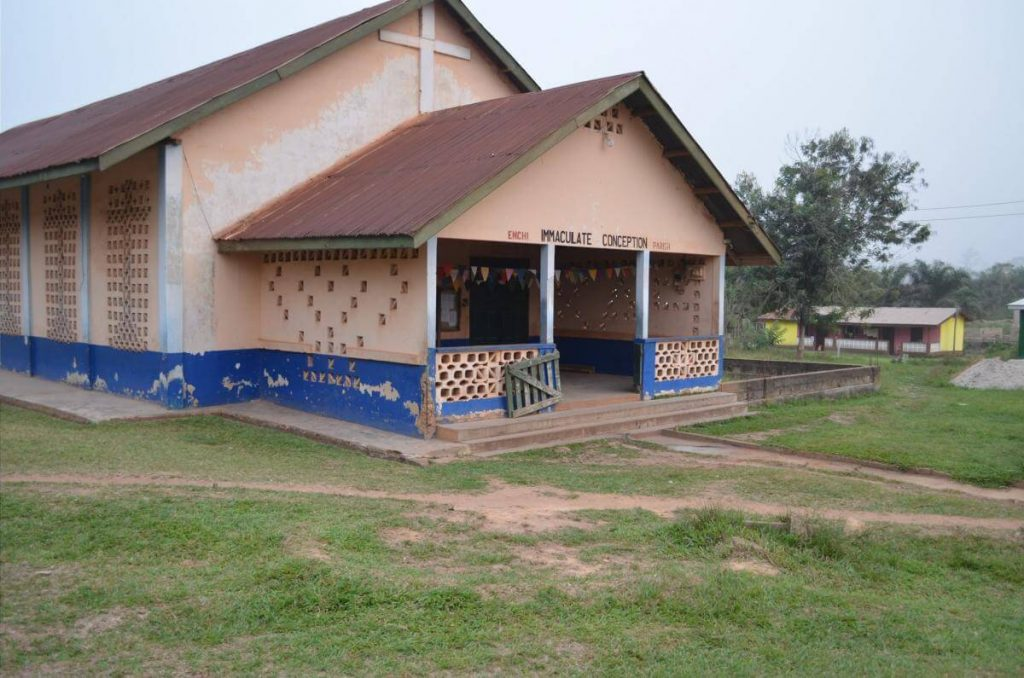 Catechists Training Location - Enchi Immaculate Conception Present Church