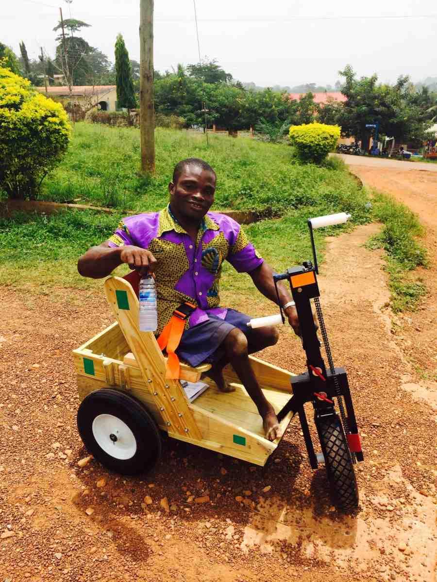 Paraplegic man in Ghana