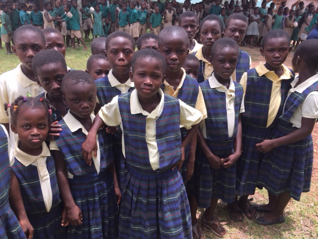 Students in new uniforms - Ghana
