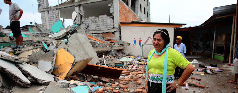 Ecuador earthquake ruins