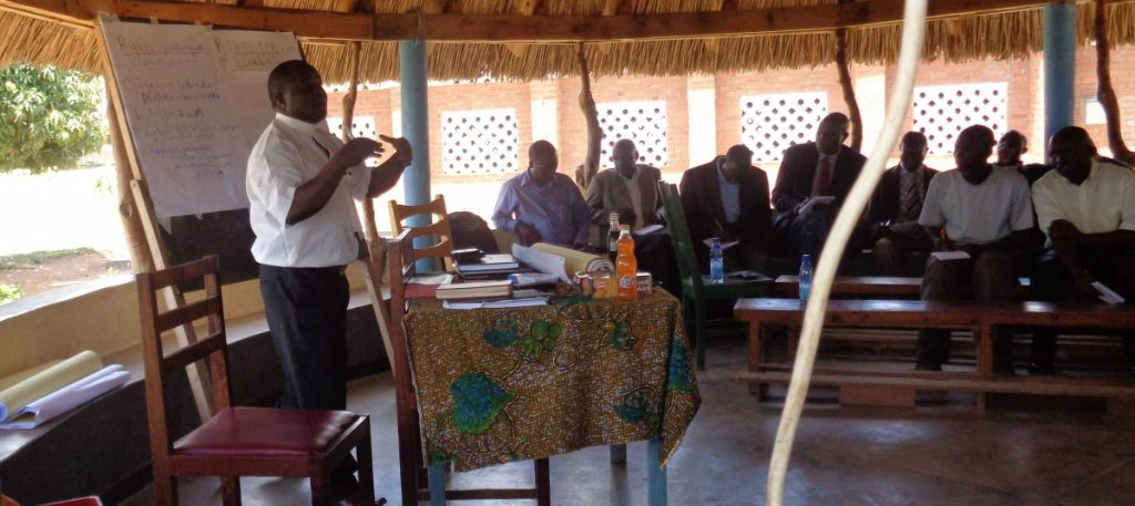 Catholic Missionary training new priests in Malawi