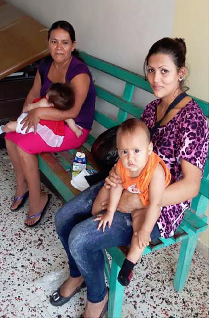 Honduras hospital waiting room