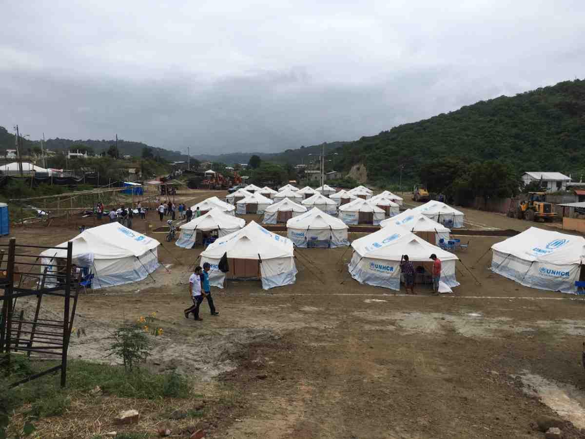 Ecuador earthquake relief shelter