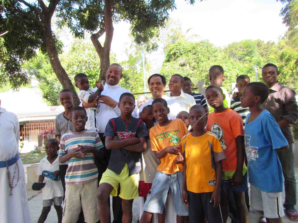 Catholic Missionaries working with children from school