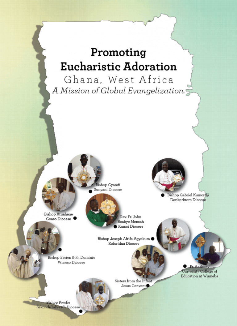 Map of monstrances distributed in Ghana