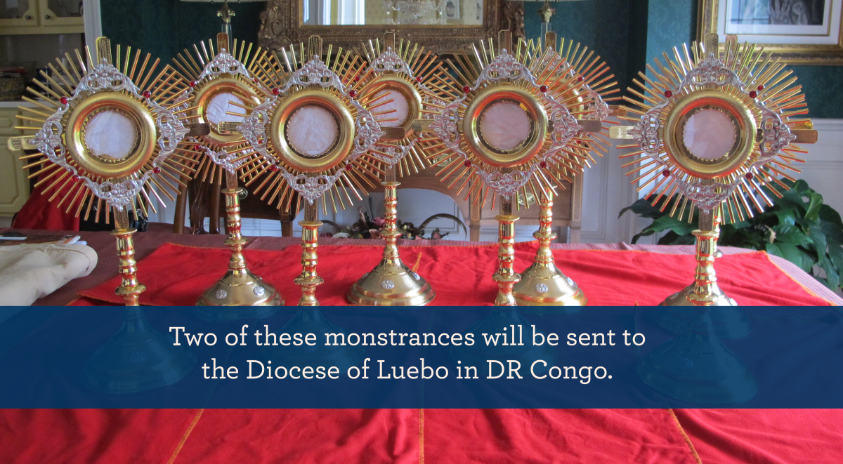 help donate monstrances for diocese in DR Congo