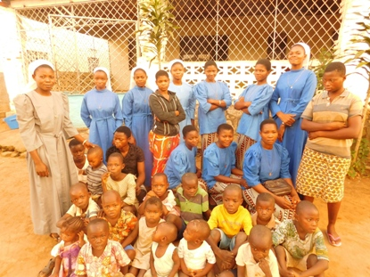 orphans running for safety in war torn DR Congo