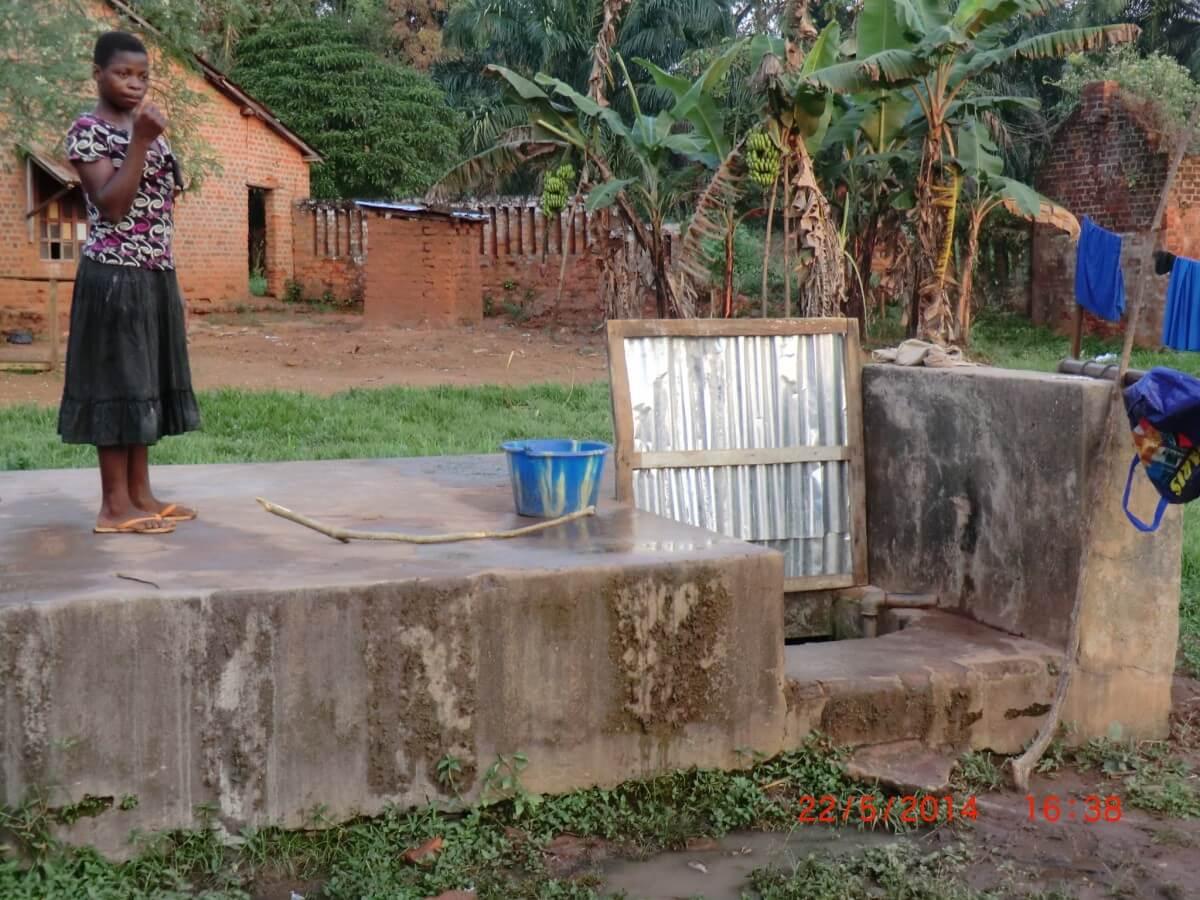 facilities at war damaged orphanage in DR Congo
