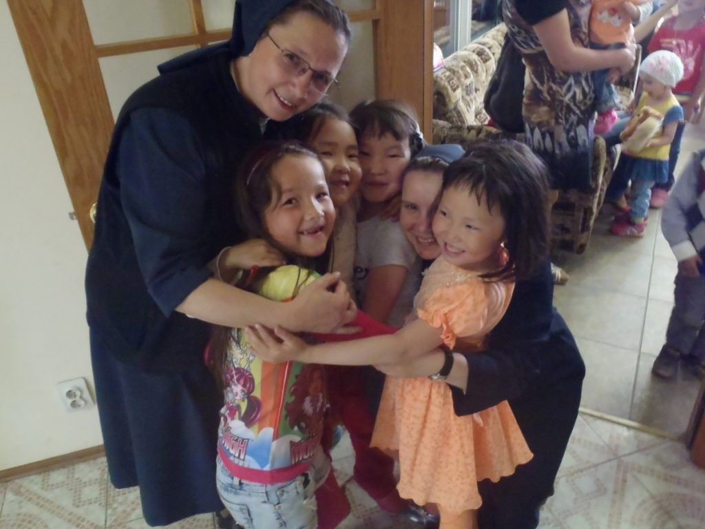 Sister with Magadan children.
