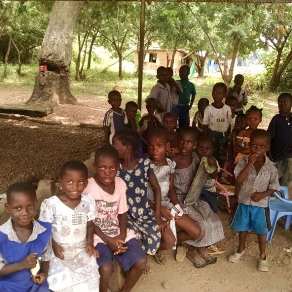 Students at gabikpa island school ghana