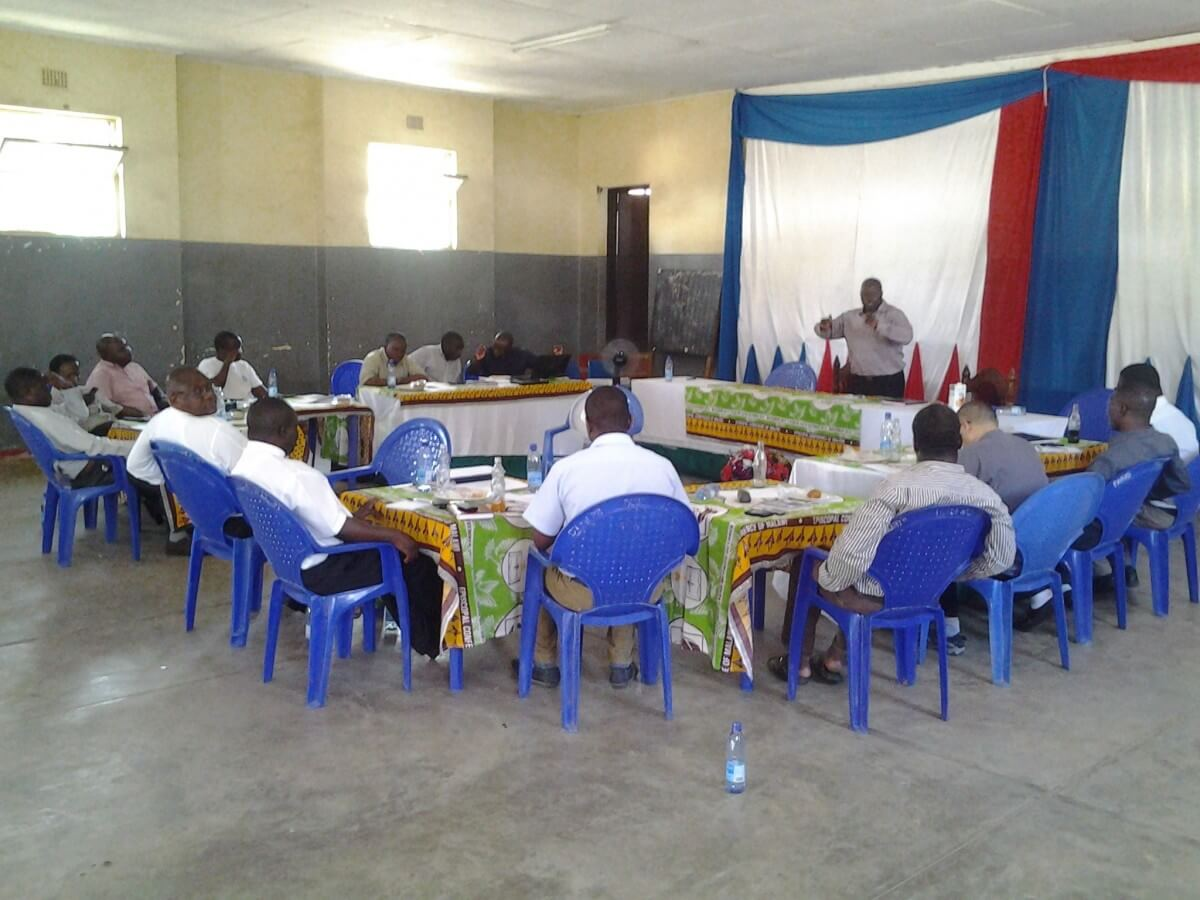 Training session for Catholic priests in Malawi