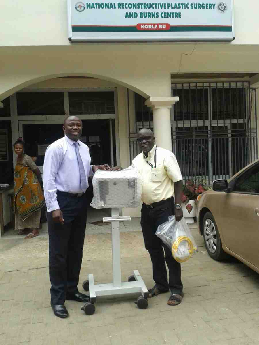 Ventilator shipment to Ghana
