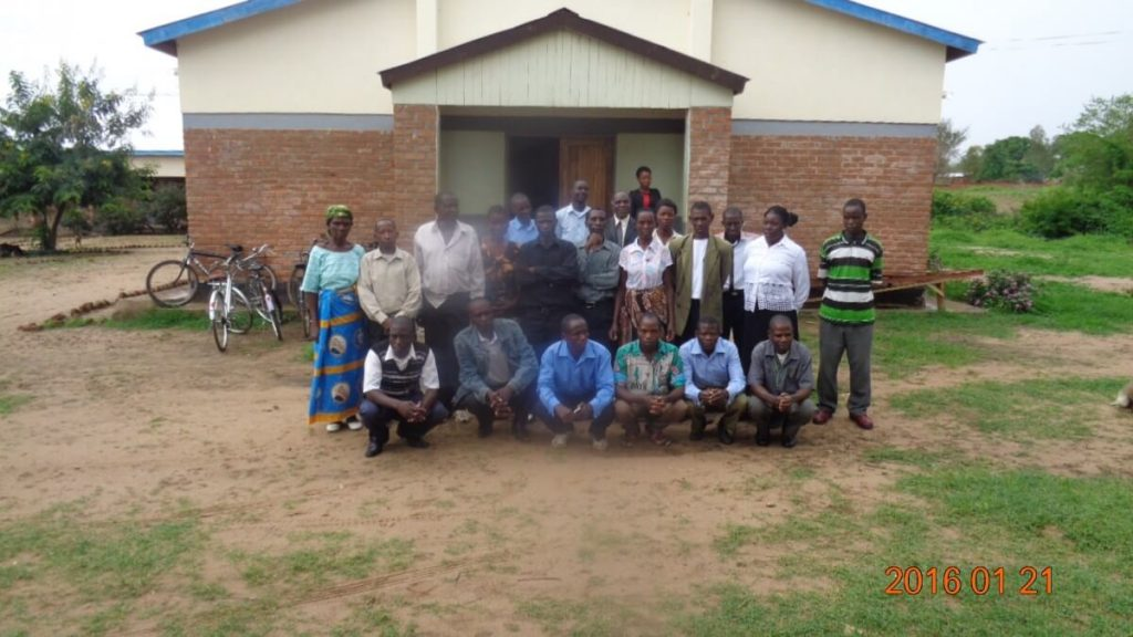 Catholic Missionaries Outside Lay Missionary School in Malawi