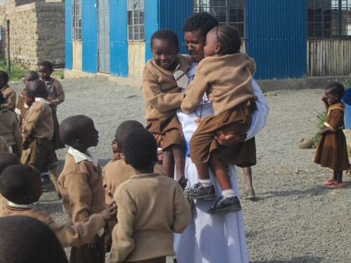 Catholic Missionaries helping Children in Kenya