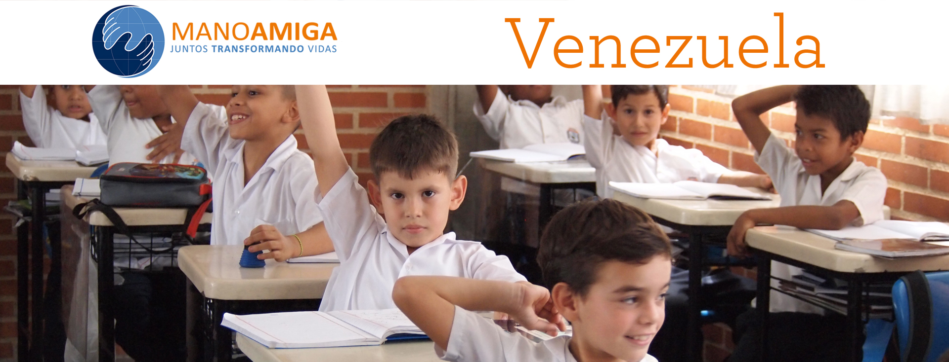 Students who will benefit from donations to Mano Amiga Venezuela
