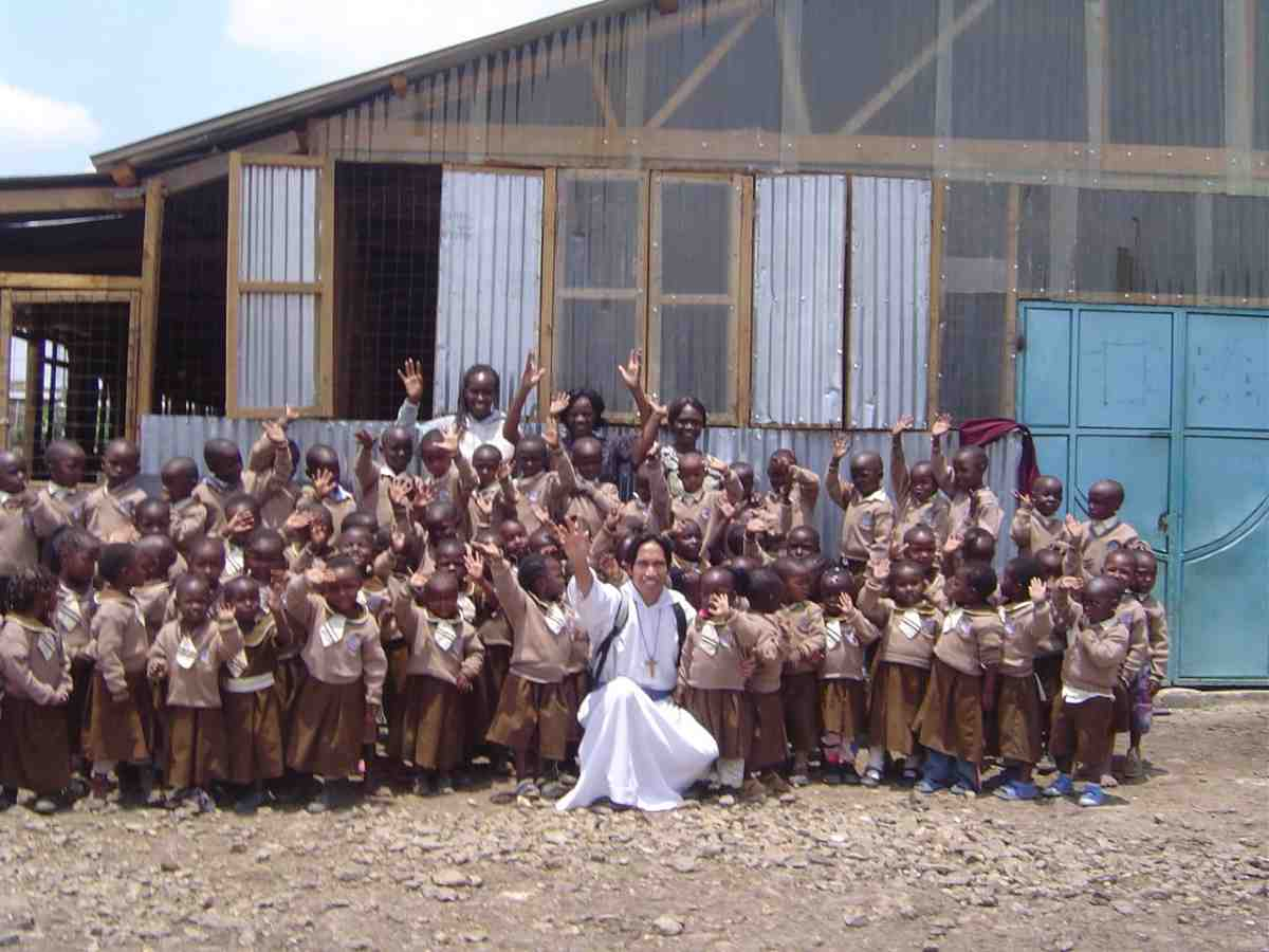 Catholic Missionary at Academy Students in Kenya