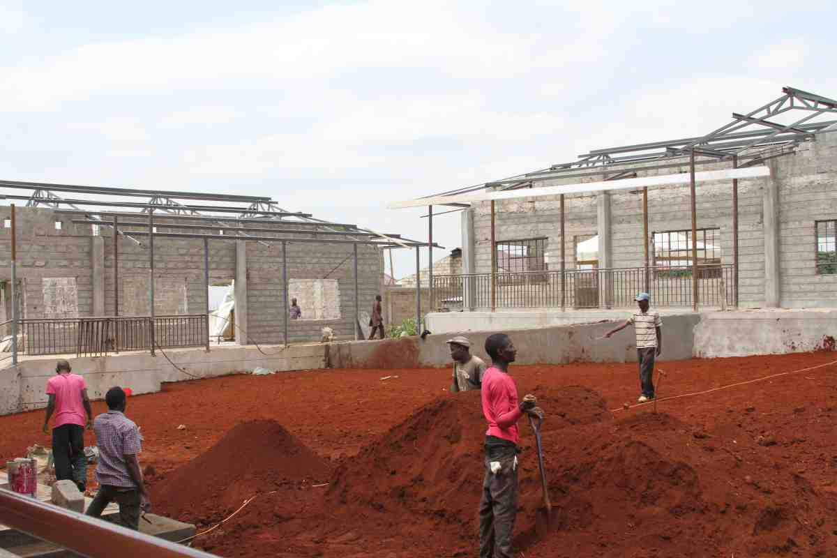 Construction for new orphanage in Kenya funded by Catholic Missionaries
