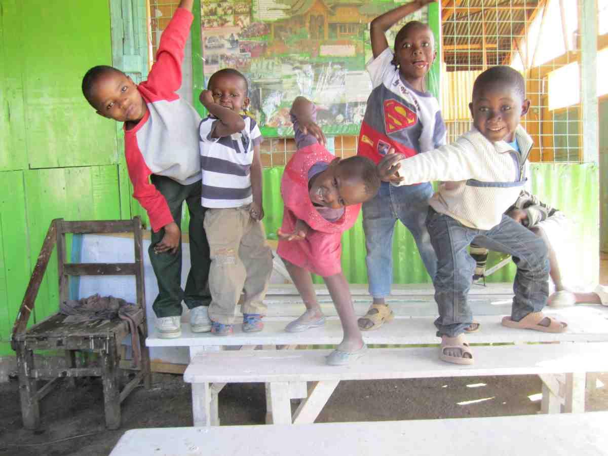 Children playing at Catholic Center in Kenya