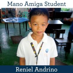 Mano Amiga Student Reniel Andrino