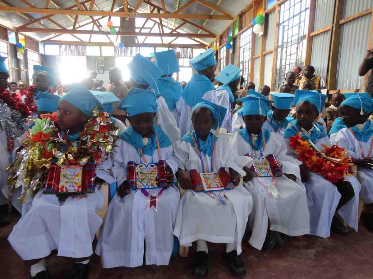 Students graduating from Catholic Academy in Kenya