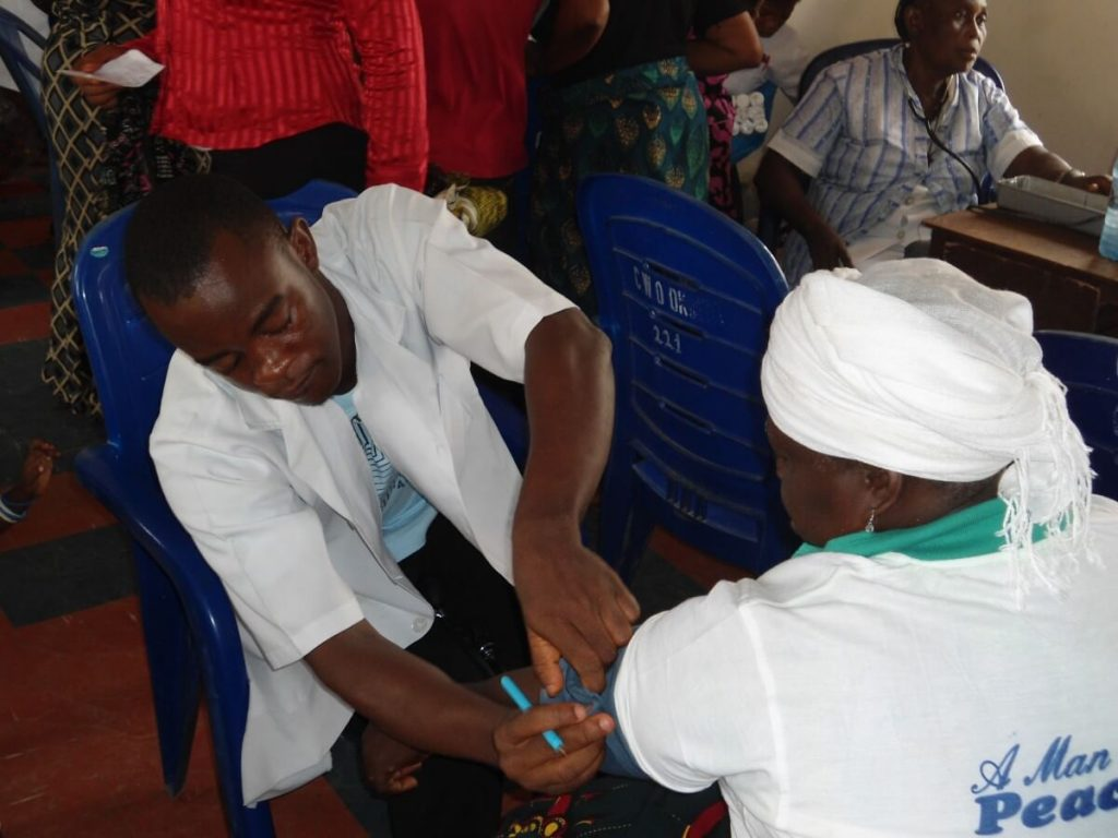 Patients receiving care at Medical Mission in Nigeria