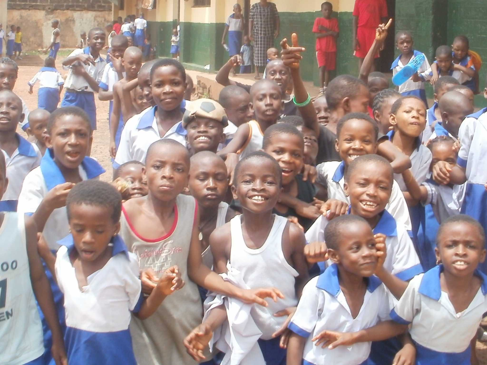 Children in Nigeria being helped by Catholic World Mission donors