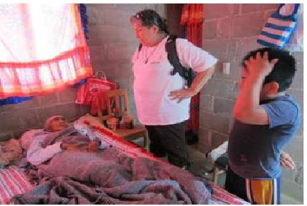 Catholic missionaries visiting the sick in Mexico