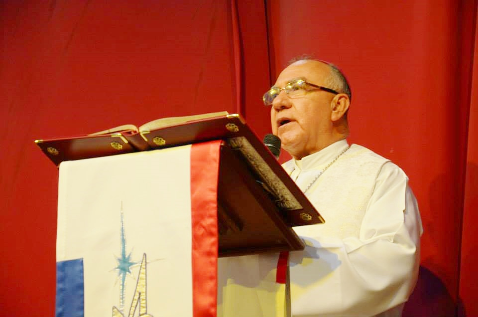 Catholic priest delivering message in Mexico