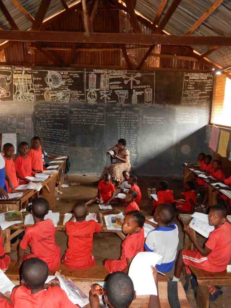 Children in Nigera school taking a lesson - Nigeria