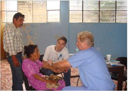 Internist Dr. Ron Taylor tends to patients in Chiapas