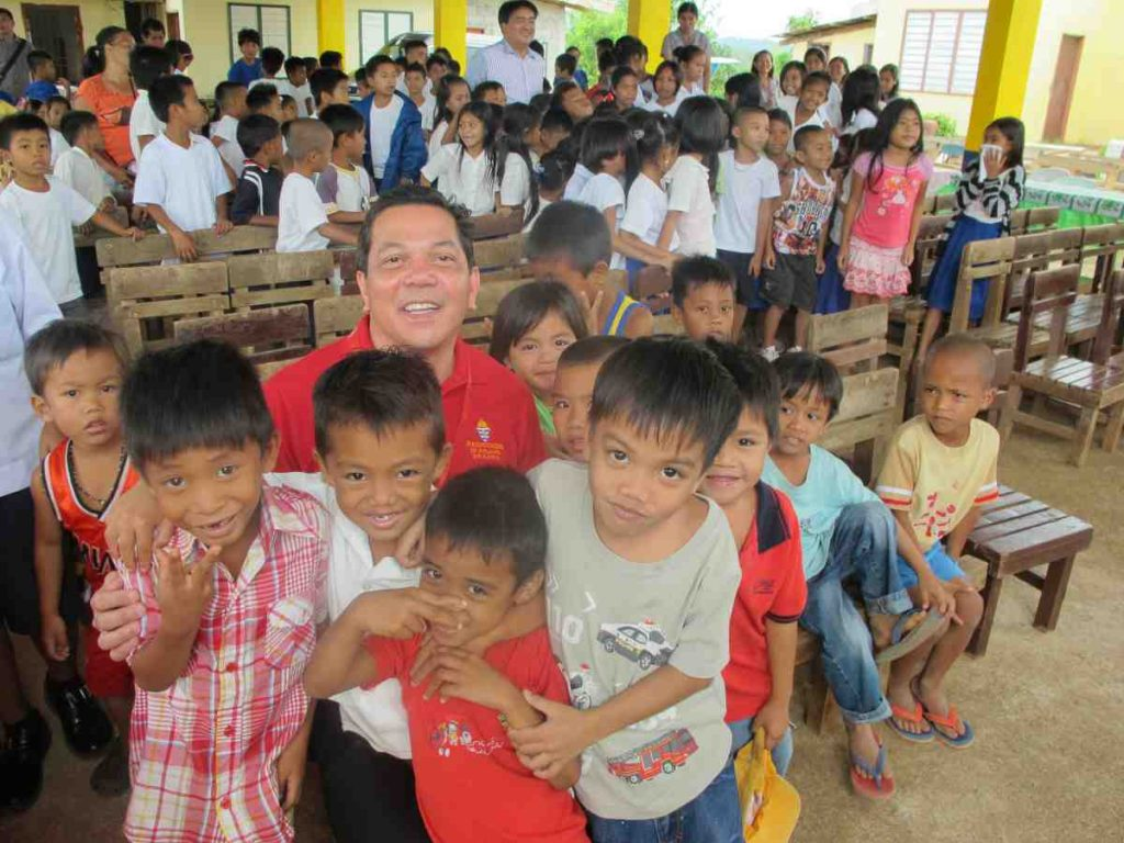 Executive Director Deacon Rick Medina with Agtatacay students - Philippines