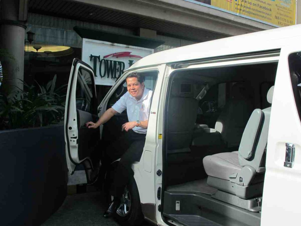 Deacon Rick with the van for the sisters - Philippines