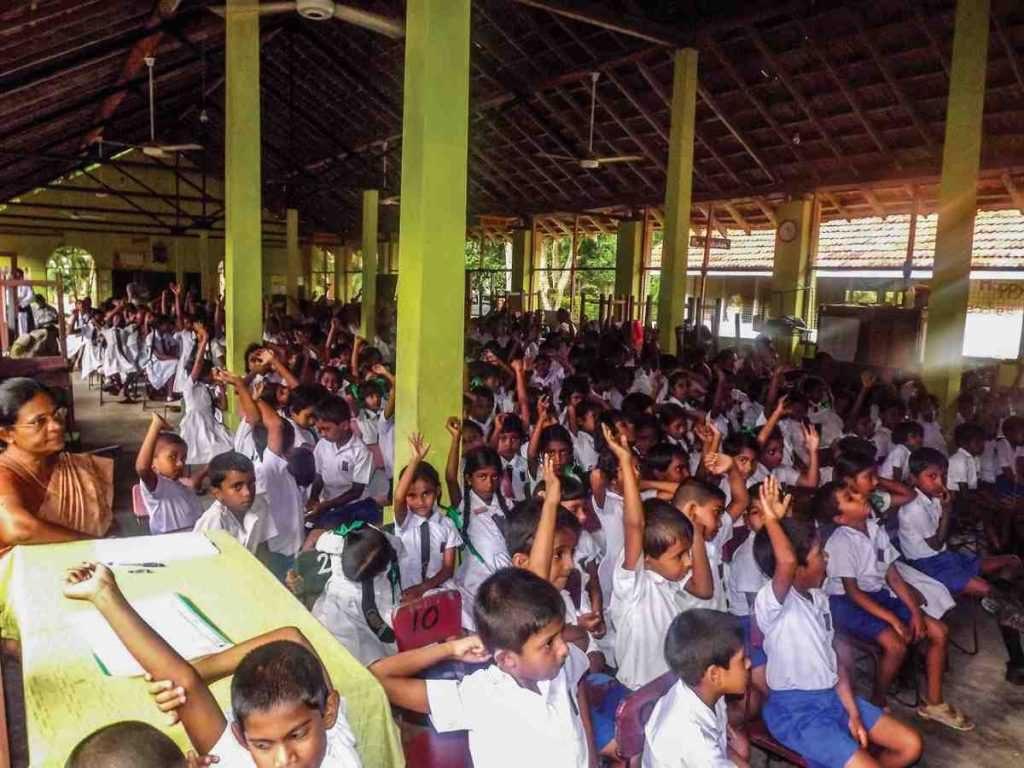 Large class in Sri Lanka