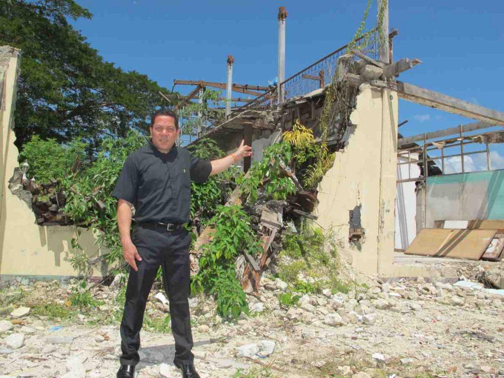 Deacon Rick Medina shows the devastation - Philippines