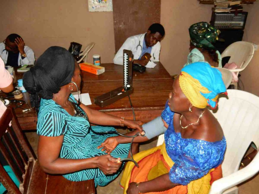 Patient being treated in Medical Mission in Nigeria