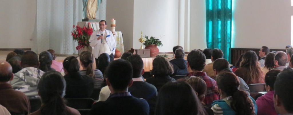 Catholic Missionaries learning from catholic priest in Mexico