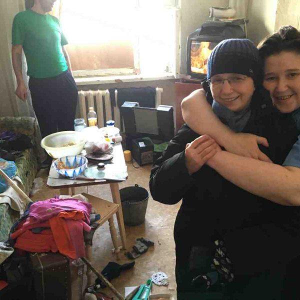 Nastia hugging Sister Barbara - Russia