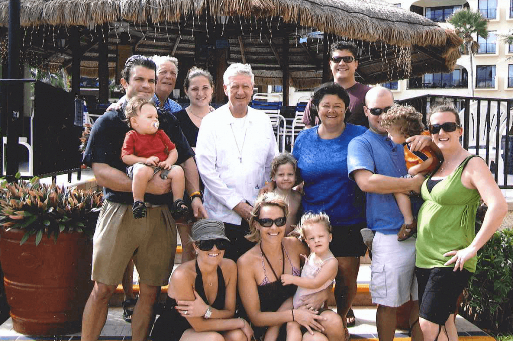 Fr. Quinn with the Adams family - Mexico
