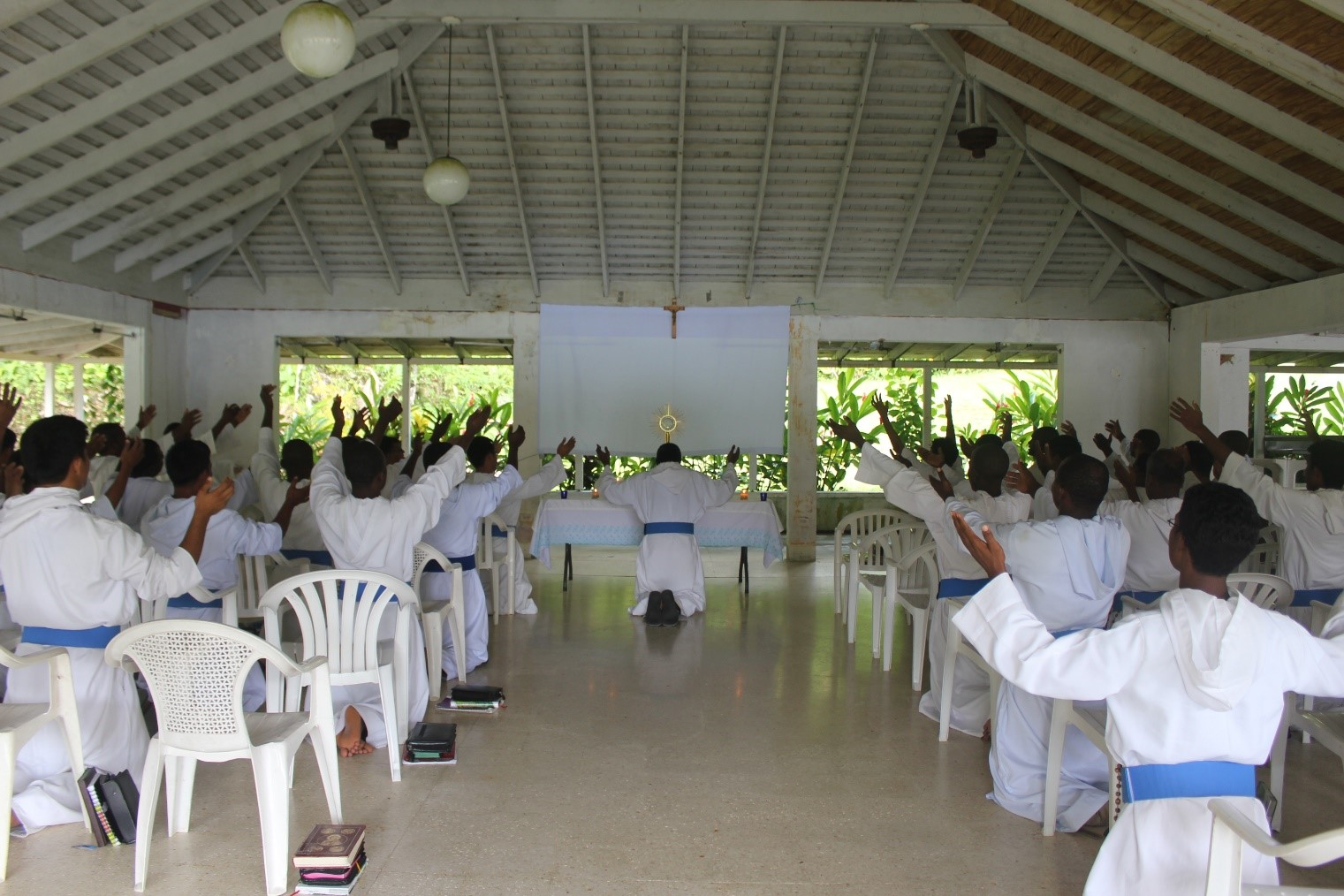 Missionaries of the Poor (MOP) brothers in Adoration in Haiti