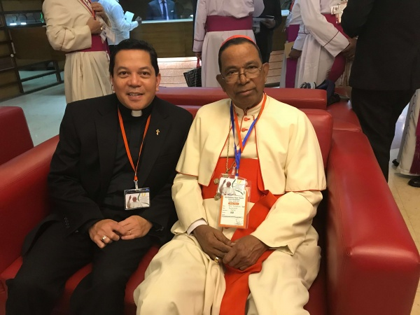 Bangladesh - Deacon Rick got to meet many cardinals during his visit. Here, he\'s pictured with Cardinal Telesphore Placidus Toppo, Archbishop of Ranchi, India
