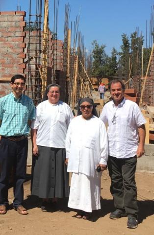 Construction progress on Molina Hospital - Spring 2018