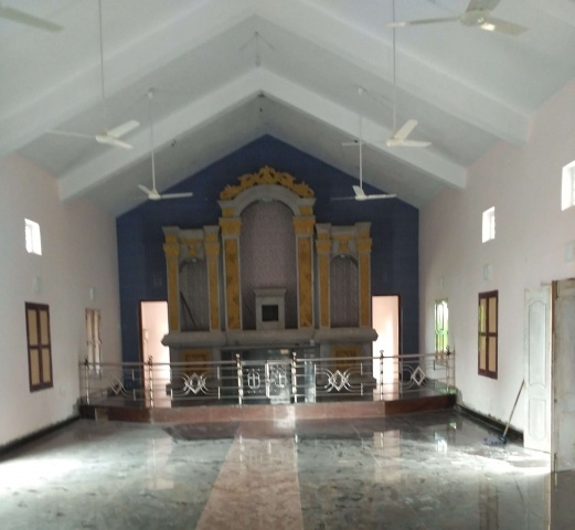 Thambipuram, India - Church interior coming along nicely!