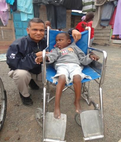 Fr. Paul with Gabriel - Kenya