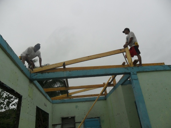 The reconstruction of Lonoy Elementary has begun! - Philippines