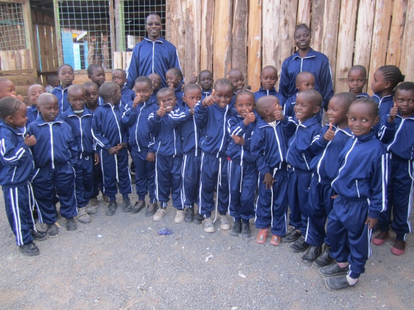 Students in their new winder uniform - Kenya