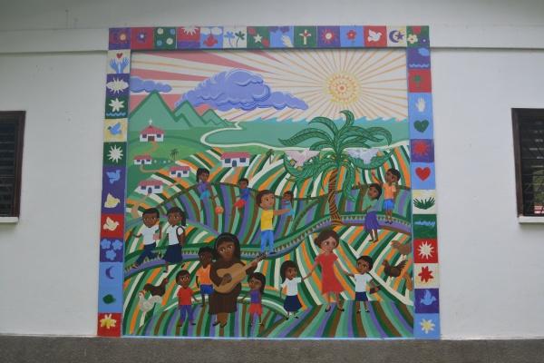 School mural - Farm of the Child - Honduras