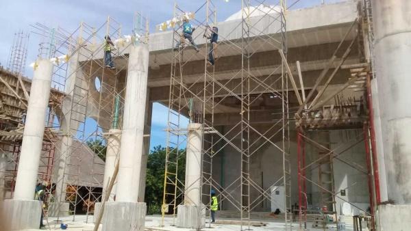 Corpus Christi construction progress - Playa del Carmen, Mexico - Fall 201