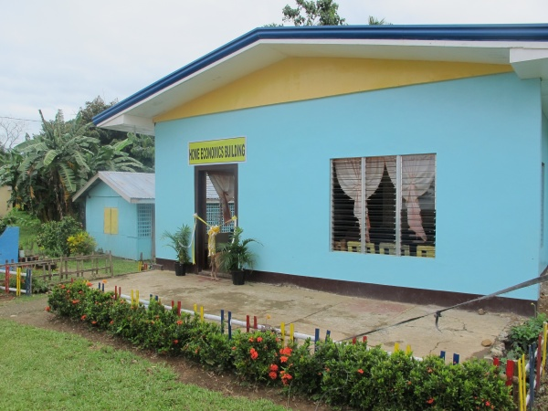 The new Home Economics building at Lonoy Elementary - Philippines